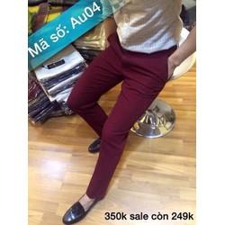 quần kaki phong cách hàn quốc đỏ đô