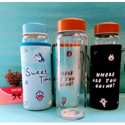 Bình Nước Thủy Tinh My Bottle - Túi Giữ Nhiệt