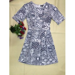 Váy nữ họa tiết- thời trang Hồng Viên
