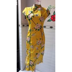 Đầm sườn xám hoa xinh xắn