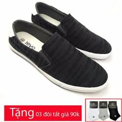Giày lười vải cao cấp trẻ trung năng động AD91107D