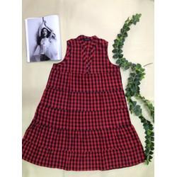 Đầm xòe cổ chữ V - thời trang Hồng Viên