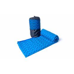 Khăn trải thảm tập Yoga bằng hạt PVC cao cấp chống trơn màu Xanh