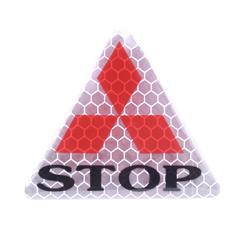 1 miếng Decal phản quang STOP, tam giác bạc