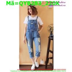 Quần yếm jean nữ  QYB283