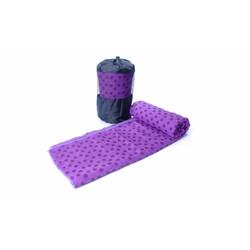 Khăn trải thảm tập Yoga bằng hạt PVC cao cấp chống trơn màu tím