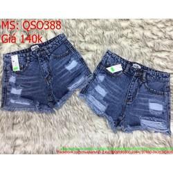 Quần jean short nữ rách tua phong cách và thời trang QSO388