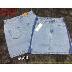 Chân váy jean ngắn viền 2 bên phong cách và cá tính CVJ111