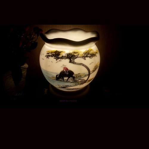 Đèn xông tinh dầu: Chăn Trâu mẫu A