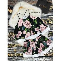 Set áo yếm hoa quần short hàng thiết kế! MS: S301147 Giá sỉ: 105k