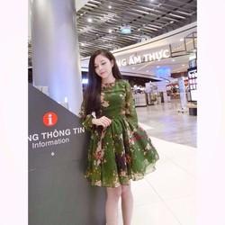 Đầm xòe hoa cực xinh