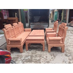 Bộ bàn ghế âu á hộp kiểu như ý gỗ hương đá