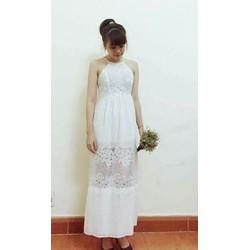 Đầm maxi mới màu trắng cho các nàng hiện đại