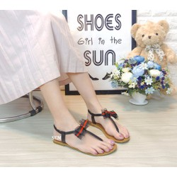 Giày Sandal Giày Nữ Quai Ngang Nữ Giày Quai Hậu Đế Bằng Nữ Phong Cách Nữ Sinh Ngọt Ngào
