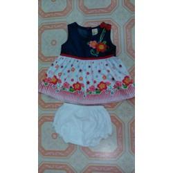 Đầm bò cho bé gái 6 tháng - 2 tuổi