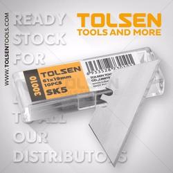 Hộp 10 lưỡi dao rọc giấy -Dùng cho dao xếp Tolsen - Chất Lượng Châu Âu