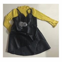 Set váy da áo len cho bé gái 10-15kg
