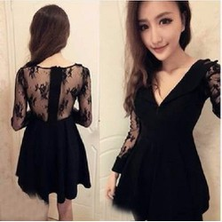 Đầm xoè tay ren