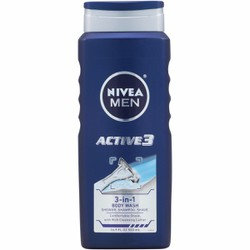 Gel tắm gội cạo râu 3 trong 1 NIVEA Men Active3