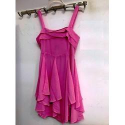 Đầm voan nữ thời trang, kiểu dáng hai dây, phong cách trẻ trung