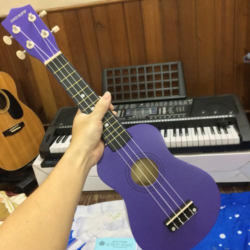 Đàn ukulele andrew tím đậm