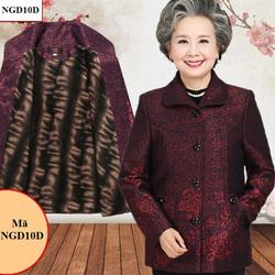 Áo khoác dạ lót nhung cho người già, người lớn tuổi NGD10D