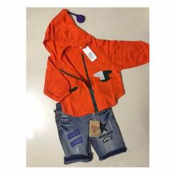 Áo khoác thun cam cao cấp thời trang cho bé trai và bé gái