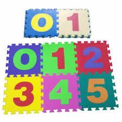 Bộ 10 miếng thảm xốp lót sàn ghép hình số học cho bé