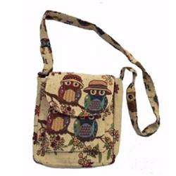 Túi đeo chéo - đeo vai vải bố họa tiết thổ cẩm