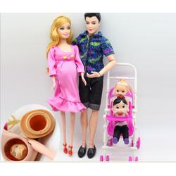 Hộp Quà Tặng Búp Bê Gia Đình Barbie Bầu  Hạnh Phúc