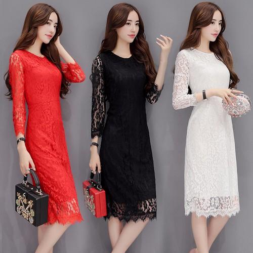 Đầm suông nữ tay dài D1125 - 10523643 , 8088295 , 15_8088295 , 299000 , Dam-suong-nu-tay-dai-D1125-15_8088295 , sendo.vn , Đầm suông nữ tay dài D1125