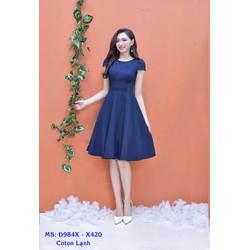 Đầm Xòe Tay Con Dễ Thương