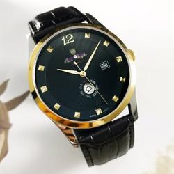 Đồng hồ đeo tay nam dây da tốt OP6375L-02