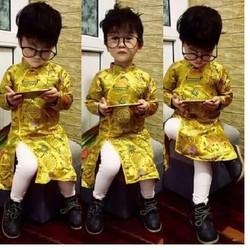 áo dài cách tân - Bộ áo dài cách tân cho bé trai