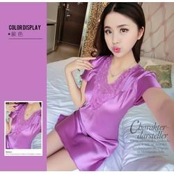 Váy ngủ Lanh cực đẹp, QN126, Thời trang Azado