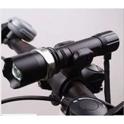 Đèn pin xe đạp thể thao siêu sáng có giá đỡ- đèn pin xe đạp