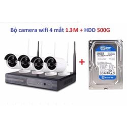 Camera kit wifi 1.3M-960P + Hdd 500G