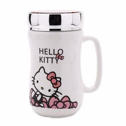 Ly Sứ Giữ Nhiệt Hình Mèo Hello Kitty Ngộ Nghĩnh