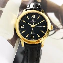 Đồng hồ đeo tay nữ dây da OM1287L-SGW-1AV