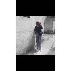 QUẦN BAGGY RÁCH IN CHỮ