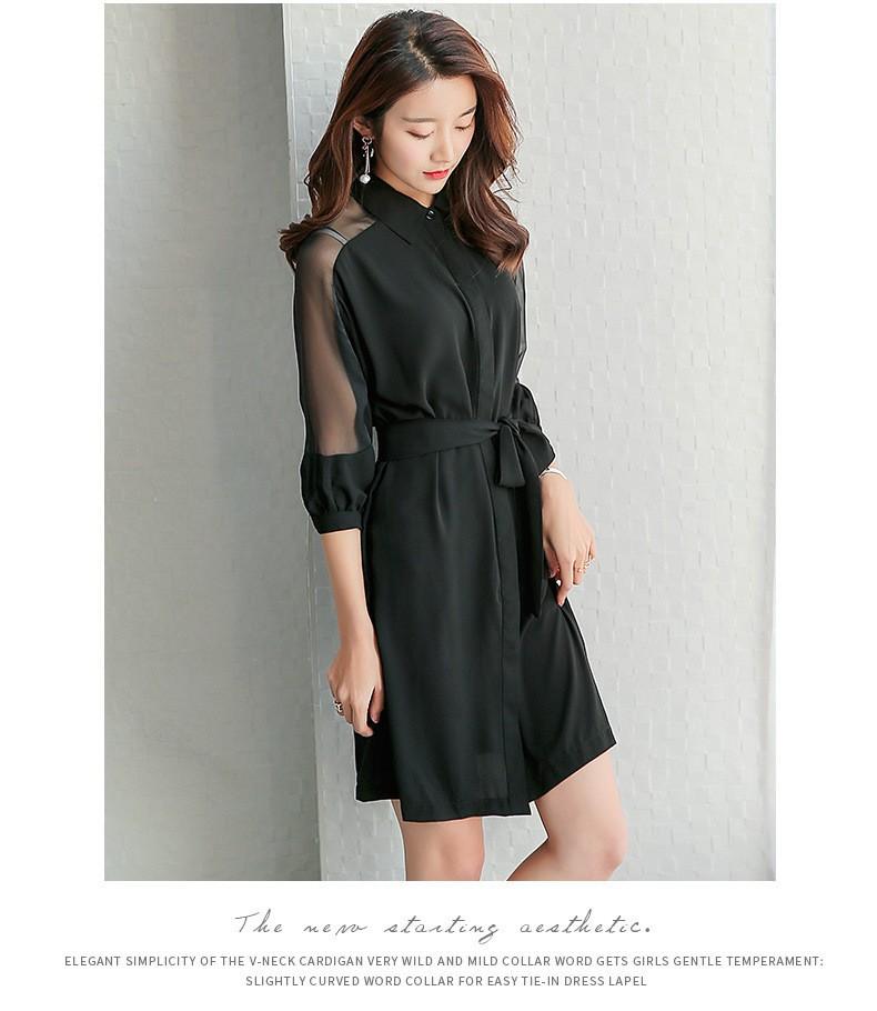 Đầm suông sơ mi phong cách TB0459 8