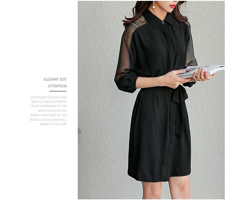 Đầm suông sơ mi phong cách TB0459 7