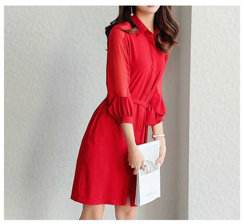 Đầm suông sơ mi phong cách TB0459 10