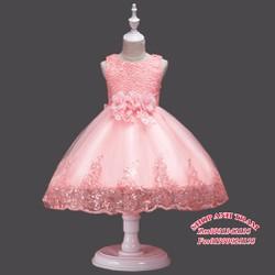 Đầm công chúa đính kim sa chân váy