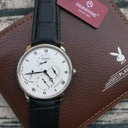 Đồng hồ nam dây da Sunrise 1134 thiết kế cổ điển chạy full kim