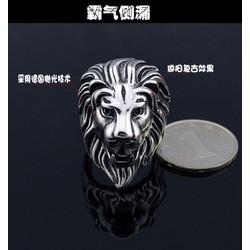 Nhẫn nam đầu sư tử