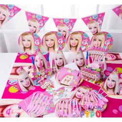 Bộ phụ kiện trang trí sinh nhật cho bé - Bộ Barbie