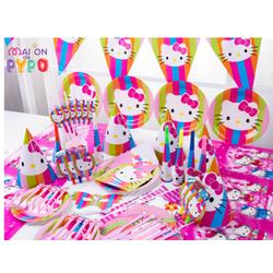 Bộ phụ kiện trang trí sinh nhật cho bé - Bộ Kitty