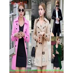 Áo khoác vest nữ form dài đính nút sành điệu thời trang AKA37