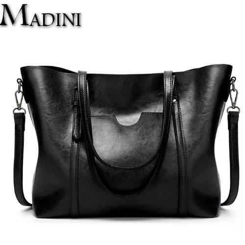 [TẶNG NƯỚC HOA Mini]Túi xách da nữ MADINI cao cấp lớn đựng vừa A4 2018 KDR-TX071
